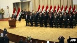 تشكيلة الحكومة العراقية لحظة التصويت عليها في مجلس النواب