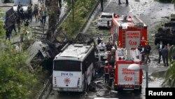 Месца выбуху ў Стамбуле