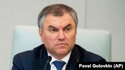 Russian State Duma speaker Vyacheslav Volodin (file photo)