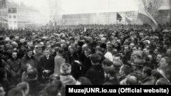 Проголошення Акту Злуки УНР та ЗУНР на Софійському майдані в Києві, 22 січня 1919 року