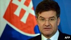 Словачкиот министер за надворешни работи и европски прашања и претседавач со Советот на ЕУ, Мирослав Лајчак.
