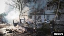 Në Donetsk, pjesë e sulmuar nga separatistët pro-rusë
