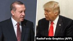 Türkiýäniň prezidenti Rejep Taýýyp Erdogan we Birleşen Ştatlaryň prezidenti Donald Tramp.