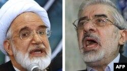 Mir Huseýin Musawi bilen Mehdi Karrubi (çepde)