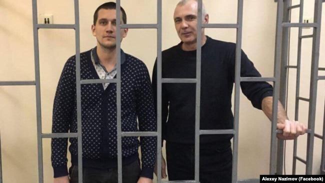 Павел Степанченко и Алексей Назимов в суде, архивное фото