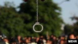 Во время исполнения одного из смертных приговоров в Иране.