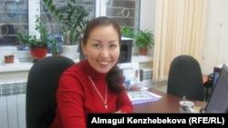 Директор авиатурагентства «Арти тур» Адалят Ибдиева. Алматы, 14 января 2016 года.