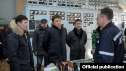 Сапар Исаков на ТЭЦ Бишкека, 27 января 2018 г.
