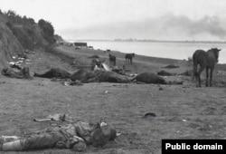 Turtucaia, malul Dunării după bătălie, august-septembrie 1916