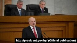 Аляксандар Лукашэнка падчас звароту да беларускага народу і дэпутатаў Нацыянальнага сходу