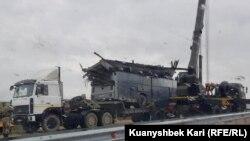 Автобус, попавший в ДТП в Казахстане, 20 апреля 2019 года.