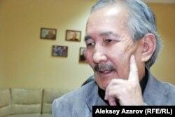 Писатель Смагул Елубай, автор сценария исторического сериала «Казах ели». Алматы, 6 марта 2015 года.