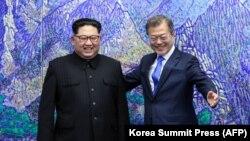 مون جهاین و کیم جونگاون، رهبران کره جنوبی و شمالی