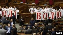 Опозиція сьогодні в парламенті закликала звільнити Юлію Тимошенко