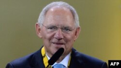 На снимке: министр финансов ФРГ Вольфганг Шойбле