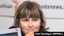 Елена Милашина Азатлыкның Мәскәү студиясендә кунакта. 2008 ел
