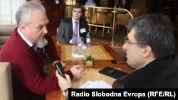 Andrei Zubov and RFE/RL's journalist Dragan Stavljanin
