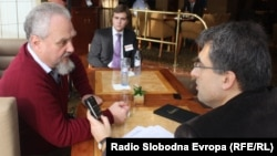 Andrei Zubov and RFE/RL's journalist Dragan Stavljanin