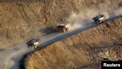 На карьере месторождения золота в Казахстане. 13 июня 2013 года.
