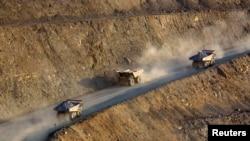 Дорога на один из золотоносных рудников в Акмолинской области. Иллюстративное фото.