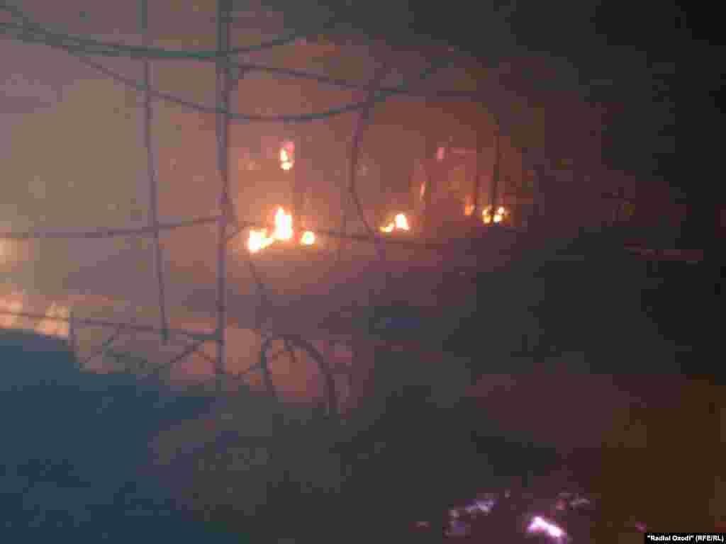 """Tajikistan,Khatlon region, Fire in """"Sakhovat"""" market in Kulob city,22July2014"""