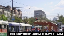 Ukraine -- Explosion place In the center of Dnepropetrovsk, 27Apr2012