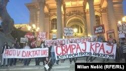 Beograd: 'Protiv diktature' uz podršku iz drugih gradova