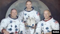 Posada svemirske letjelice Apollo 11: Armstrong, Collins, Aldrin, 1969.
