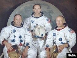 «Apollon-11»nin ekipajı. Neil Armstrong, Michael Collins və Buzz Aldrin