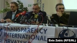 Čelnici Transparency International Hrvatska predstavljaju globalni indeks korupcije, Zagreb, 5. prosinac 2012.