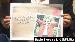 ستایش قریشی دختر خورد سال افغان که در ایران از سوی یک نوجوان ایرانی مورد تجاوز جنسی قرار گرفت و بعداً به قتل رسید.
