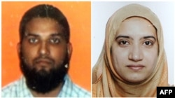 Syed Rizwan Farook (left) and Tashfeen Malik (combo photo)