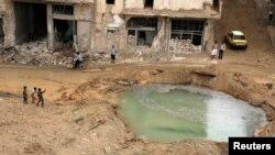 Наслідок авіаудару по Алеппо, 23 вересня 2016 року