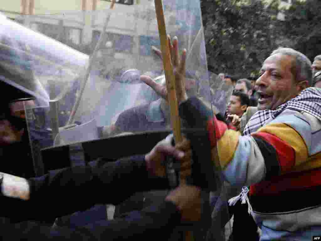 Demonstrators demanding the ouster of President Hosni Mubarak in Cairo January 26.
