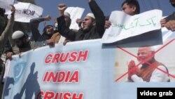 Pakistanda Hindistana qarşı etirazlar