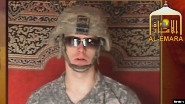 A Taliban-affiliated website shows a man identified as Private First Class Bowe Bergdahl, a U.S. soldier captured by the Taliban in southeastern Afghanistan in late June 2009.