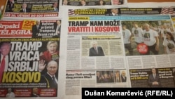 Naslovnice novina u Srbiji