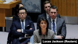 United States ambassador to the United Nations (UN) Nikki Haley