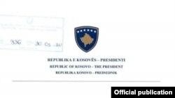 Letra e presidentit Thaçi drejtuar Kurtit
