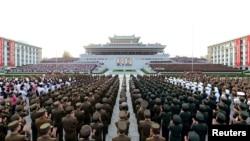 Мероприятие в Пхеньяне в честь проведённого ядерного испытания.