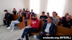 Cуд супраць удзельнікаў мірнай акцыі пратэсту ў Хойніках, 11 верасьня