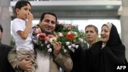 شهرام امیری به هنگام بازگشت به ایران