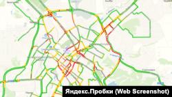 Пробки в Симферополе 30 декабря 2019 год