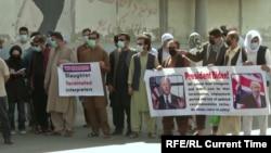 Afghans demonstrate on behalf of translators who now seek special immigrant visas. (file photo)