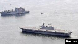 Корабли 7-го флота США вблизи своей базы в Японии