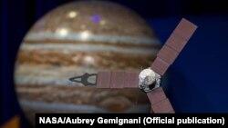 سفینه فضایی جونیو در حال نزدیک شدن به مدار سیاره مشتری