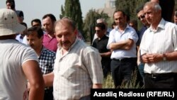 Azerbaijan – Journalist Rauf Mirkadirov participates in the funeral of his father – Baku, 24May2014