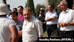 Azerbaijan – Journalist Rauf Mirkadirov participates in the funeral of his father – Baku, 24May2014