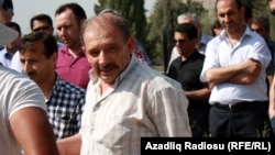 Rauf Mirqədirov atasının dəfnində - 24 may 2014