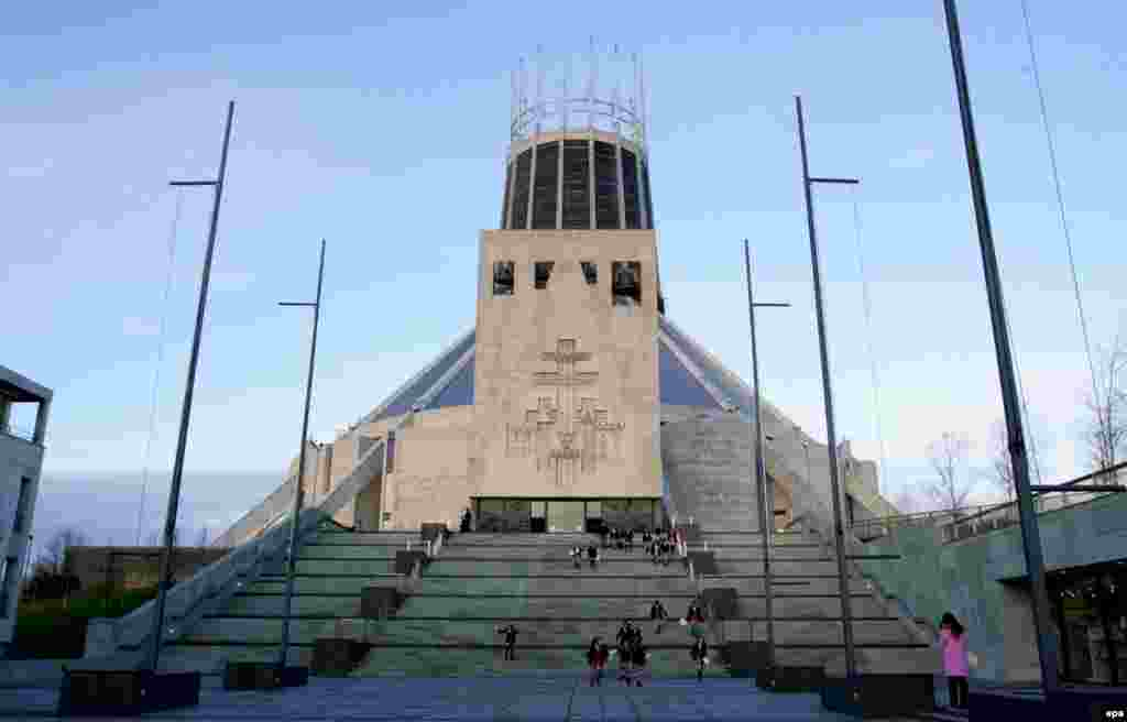"The Metropolitan Cathedral of Christ the King in Liverpool, England, was designed by Frederick Gibberd and consecrated in 1967. It is derisively referred to as the ""Mersey Funnel"" by locals and almost immediately after its opening started exhibiting a number of design flaws, such as a leaky roof. CNN recently voted it one of the world's worst buildings."